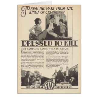 Mary Astor Edmund Lowe DRESSED TO KILL ad Greeting Card