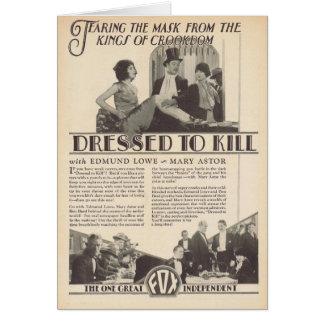 Mary Astor Edmund Lowe VESTIDO PARA MATAR al anunc Tarjeta De Felicitación