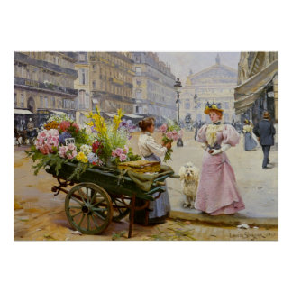 Mary at the Flower Merchant Poster