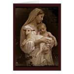 Mary Baby Jesus and Lamb Card