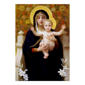 Mary & Baby Jesus Poster