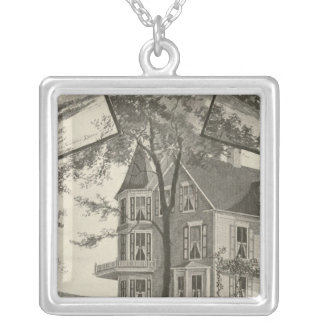 Mary Baker Eddy residence Square Pendant Necklace