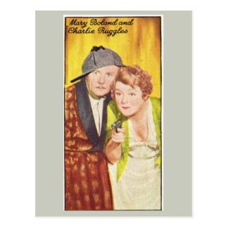 Mary Boland and Charlie Ruggles Postcard