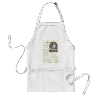 Mary Brian menu vintage page Adult Apron