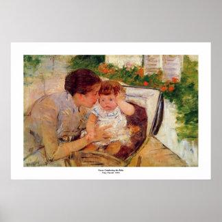 Mary Cassatt.1881.Susan Comforting the Baby print