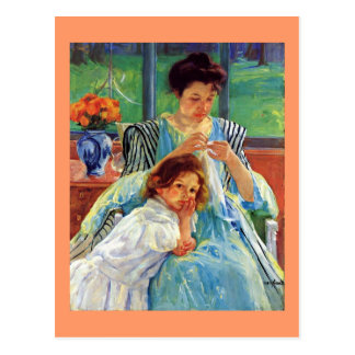 Mary Cassatt art: Young Mother, Cassatt painting Postcard