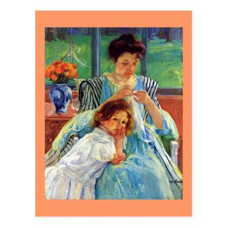 Mary Cassatt art: Young Mother, Cassatt painting Postcard