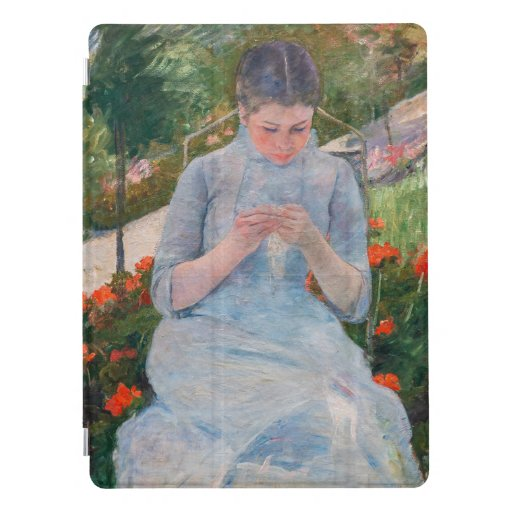Mary Cassatt artwork - Girl sewing in a Garden iPad Pro Cover