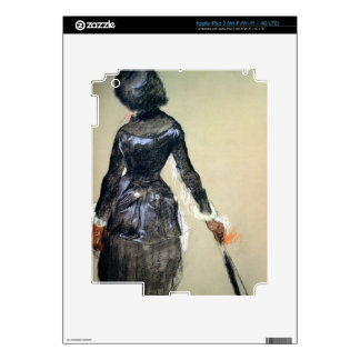 Mary Cassatt at the Louvre (pastel) Decal For iPad 3