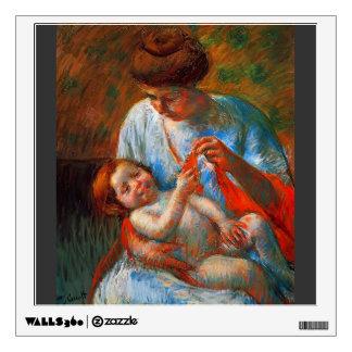 Mary Cassatt: Baby Lying on His Mother's Lap Wall Sticker