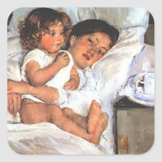 Mary Cassatt- Breakfast in Bed Stickers