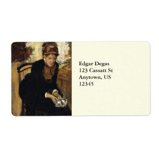 Mary Cassatt by Edgar Degas Label