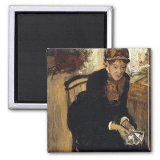 Mary Cassatt by Edgar Degas Magnet