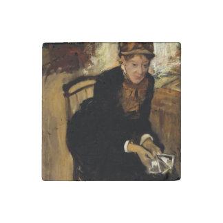 Mary Cassatt by Edgar Degas Stone Magnet