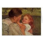 Mary Cassatt: Caricia maternal Felicitacion