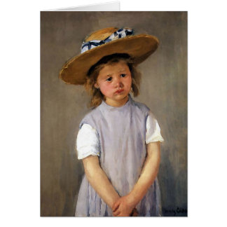"Mary Cassatt ""Child in a Straw Hat"" Card"