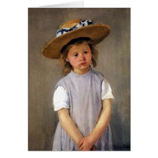 "Mary Cassatt ""Child in a Straw Hat"" Card"