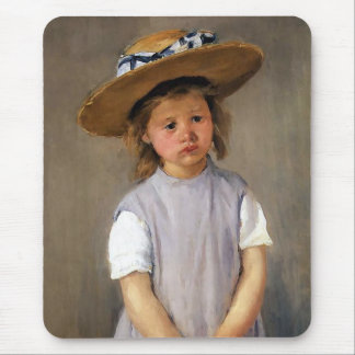"Mary Cassatt ""Child in a Straw Hat"" Mouse Pad"