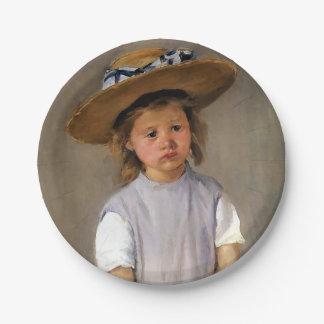 "Mary Cassatt ""Child in a Straw Hat"" Paper Plate"