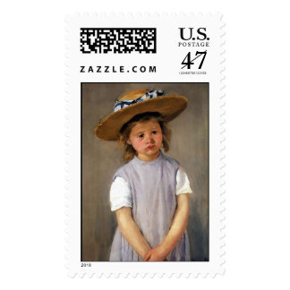 "Mary Cassatt ""Child in a Straw Hat"" Postage"