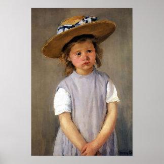 "Mary Cassatt ""Child in a Straw Hat"" Poster"
