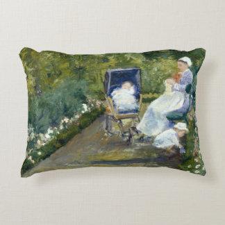 Mary Cassatt - Children in a Garden Decorative Pillow
