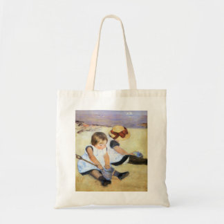 Mary Cassatt Children Playing on the Beach Budget Tote Bag