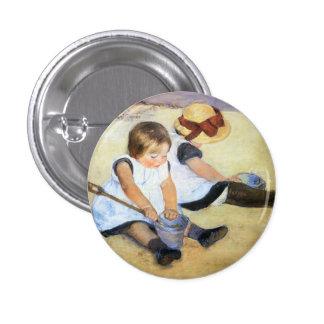Mary Cassatt Children Playing on the Beach Button