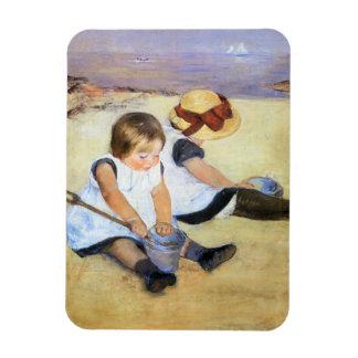 Mary Cassatt Children Playing on the Beach Magnet