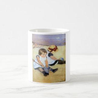 Mary Cassatt Children Playing on the Beach Mug