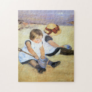 Mary Cassatt Children Playing on the Beach Puzzle