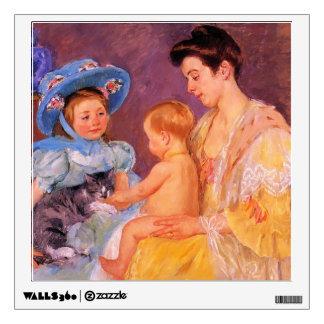 Mary Cassatt- Children Playing with a Cat Wall Sticker