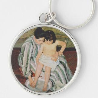Mary Cassatt Child's Bath Impressionist Keychain