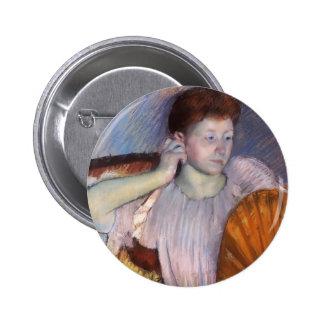 Mary Cassatt- Contemplation Button