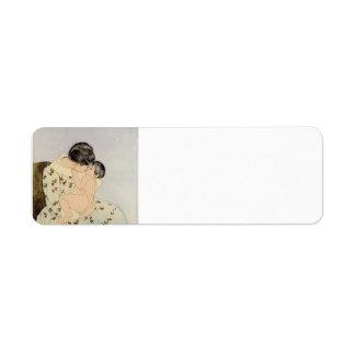 Mary Cassatt: El beso Etiquetas De Remite