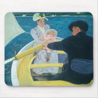 Mary Cassatt - el fiesta del canotaje Alfombrillas De Raton