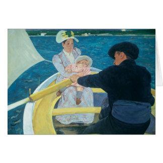 Mary Cassatt - el fiesta del canotaje Felicitacion