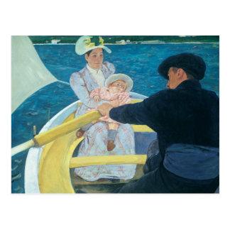 Mary Cassatt - el fiesta del canotaje Tarjetas Postales