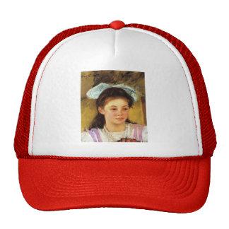 Mary Cassatt- Ellen Mary Cassatt with a Large Bow Hat