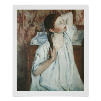 Mary Cassatt - Girl Arranging Her Hair Poster