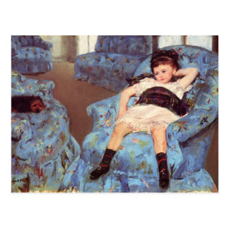 Mary Cassatt Girl in Blue Armchair Fine Art Postcard