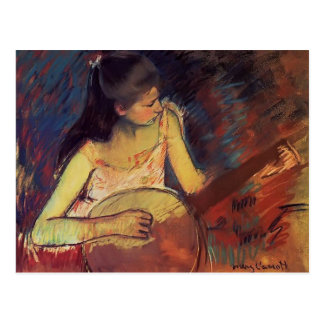 Mary Cassatt- Girl with a Banjo Postcard