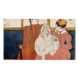 Mary Cassatt: Interior del tranvía que pasa el pue Plantillas De Tarjetas De Visita