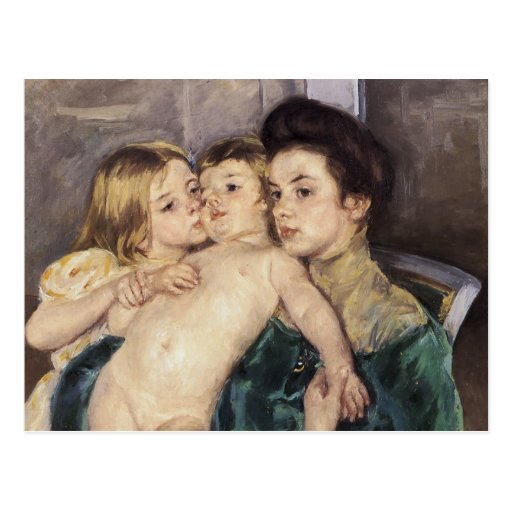 Mary Cassatt la caricia Postales