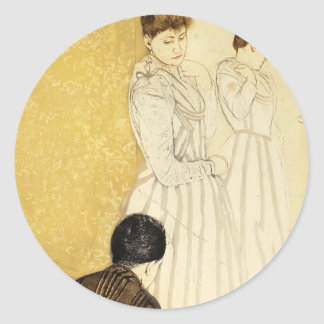 Mary Cassatt: La colocación Pegatinas Redondas