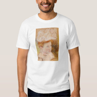 Mary Cassatt- Leontine in a Pink Fluffy Hat Shirts