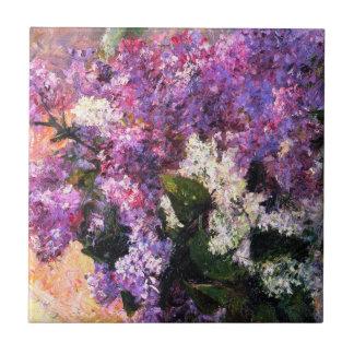Mary Cassatt Lilacs Tile