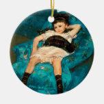 Mary Cassatt Little Girl in a Blue Armchair Ceramic Ornament