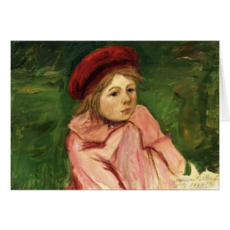 Mary Cassatt- Little Girl in a Red Beret Cards
