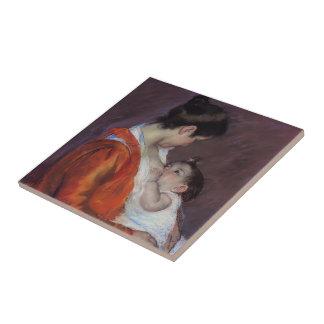 Mary Cassatt- Louise Nursing Her Child Small Square Tile